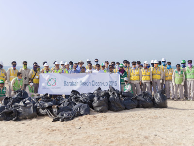 Beach clean up Barakah June 2015