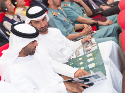 Energy minister Suhail al mazrouie at site - Sept 2015